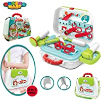 Master Mart Toys Pretend Play Doctor Set for Kids Medical Kit Nurse Carry Case On Wheels for Age 3 and up, Perfect Gift for 3, 4, 5, 6, 7 Years Old Kids