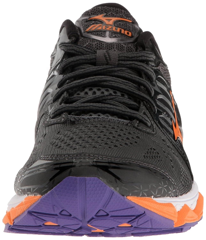 Mizuno Women's Wave Horizon Running Shoe B01H3EEIXA 8 B(M) US|Dark Shadow/Clownfish