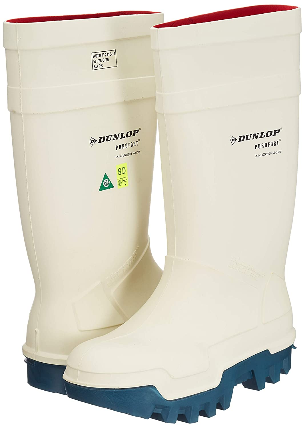 Dunlop Thermo weiß, ohne Stahlkappe 48 C662143: Amazon