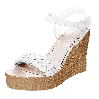 Compensé Sandale Casual Cheville Sandales Talon Minetom Mode Femme CtQdshr