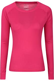 a1987c40af8aa6 Mountain Warehouse Talus Womens Long Sleeves Baselayer Top - Thermal  Underwear, Lightweight…