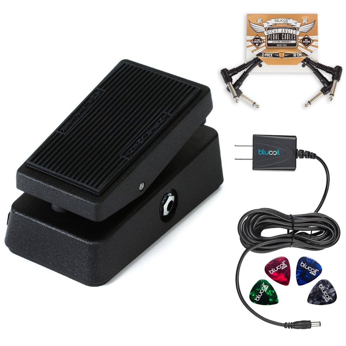 Jim Dunlop Cbm95 Cry Baby Mini Wah Pedal Bundle With Blucoil Slim 9v