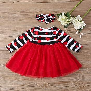 Luckycat Vestido para niña a Raya Bloque de Color Contraste ...