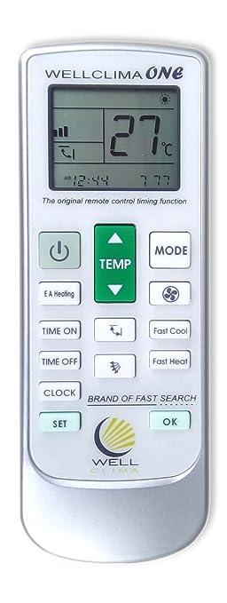 169 opinioni per Telecomando universale per condizionatore climatizzatore d'aria Wellclima ONE,
