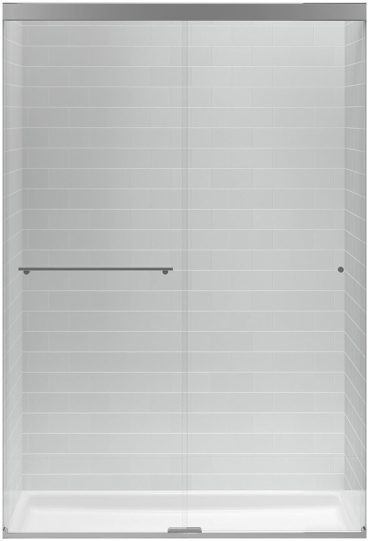Shower Door kohler levity shower door installation photos : KOHLER K-707101-L-SHP Revel Sliding Shower Door with 5/16