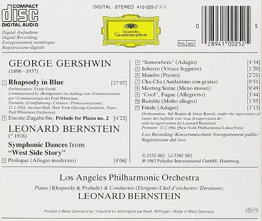 Gershwin: Rhapsody In Blue / Bernstein: Symphonic Dances from West Side  Story