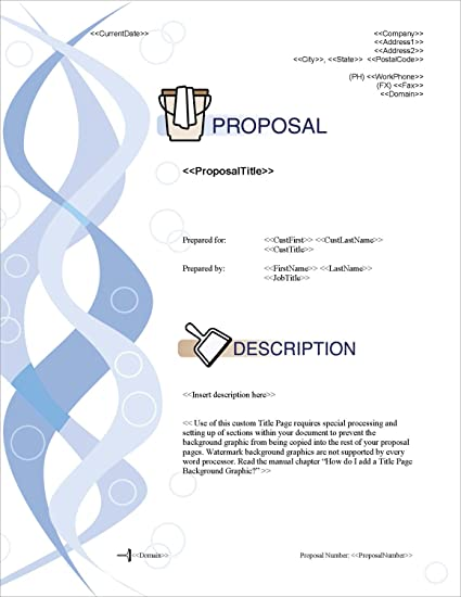 Amazon proposal pack janitorial 1 business proposals plans proposal pack janitorial 1 business proposals plans templates samples and software friedricerecipe Gallery