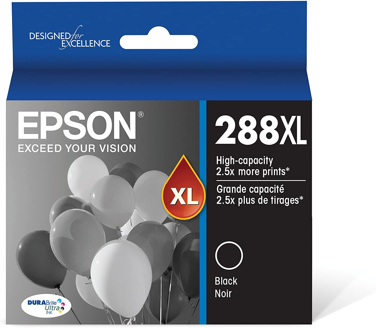 Epson T288XL120 288XL Expression Home XP-330 340 430 434 440 446 Ink Cartridge (Black) in Retial Packaging