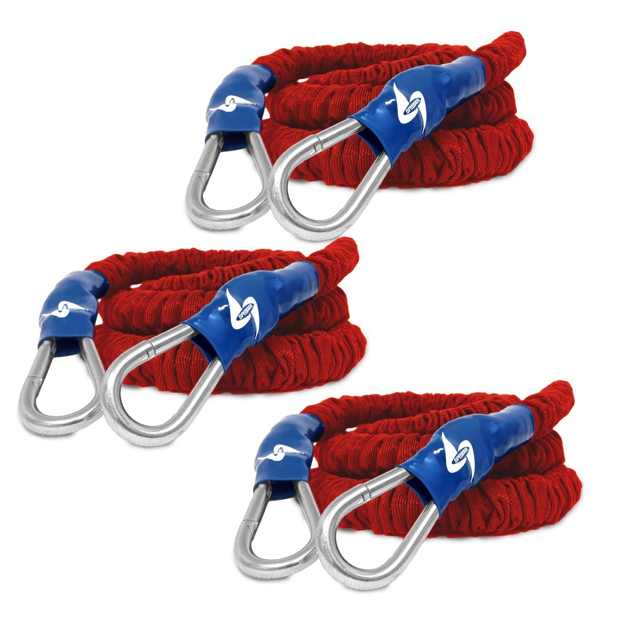 Speedster Lightning Cord 3pk, Medium - 20' 8' 4' Bungee Bands for Speed Training by SPEEDSTER