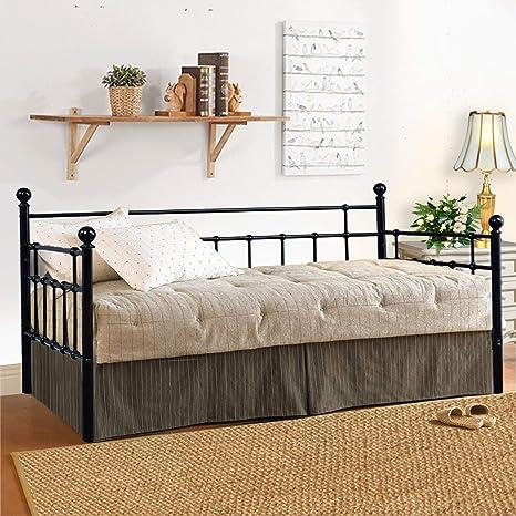 Amazon.com: HOMERECOMMEND Marco de cama de metal con dos ...