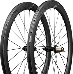 ICAN Ruedas de Carbono Aero 50 Disc Bicicleta de Carretera Ruedas 50mm Clincher tubeless Ready Disco Freno 12x100/12x142mm sólo 1430g: Amazon.es: Deportes y aire libre