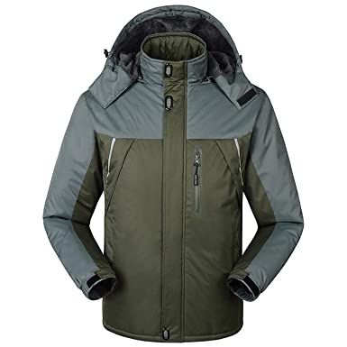 Thick Velvet Down & Parka Coat Warm Winter Jacket Men Waterproof Windproof Chaquetas,FH1588 Army