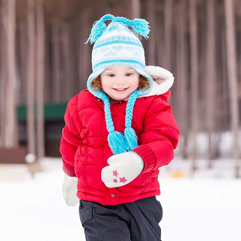 Tacobear 6 Paia Guanti Invernali per Bambini Dinosauro Robot Muffole Guanti Compleanno Regali di Natale per Bambini 1-4 Anni Guanti Invernali per Ragazzi e Ragazze