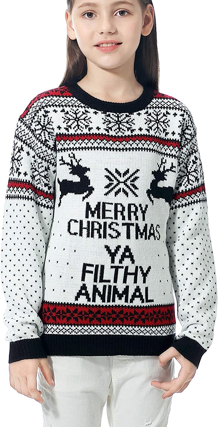 Daisysboutique Boy Girl Christmas Cute Reindeer Knitted Sweater Pullover