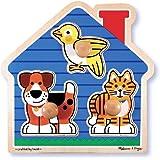 Melissa & Doug - 12055 - Puzzle À Gros Boutons - Animaux Domestiques
