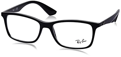 903f8f667f Ray-Ban Men s 0rx7047 No Polarization Rectangular Prescription Eyewear  Frame Black 56 mm