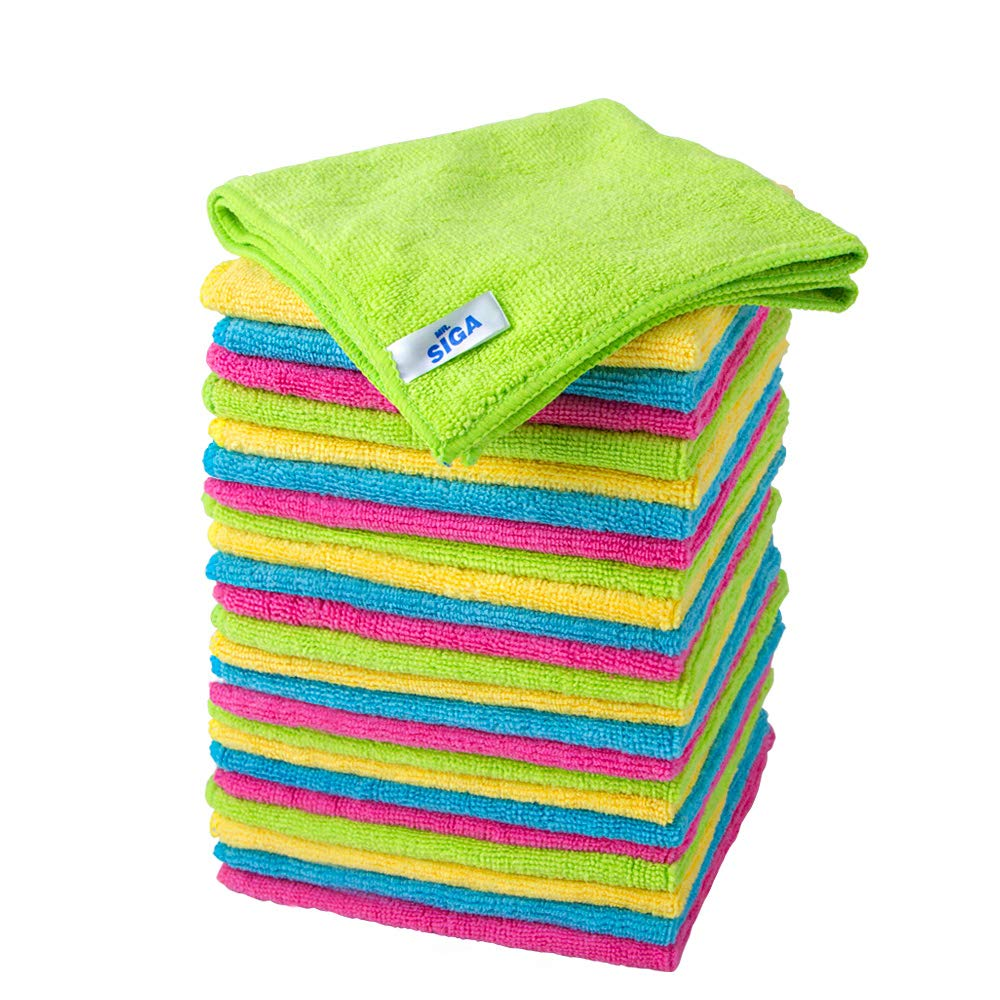 MR. SIGA Microfiber Cleaning Cloths, Size: 32 x 32cm - Pack of 24 Ltd. SJ21580