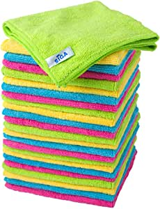 """MR.SIGA Microfiber Cleaning Cloth,Pack of 24,Size:12.6"""" x 12.6"""""""