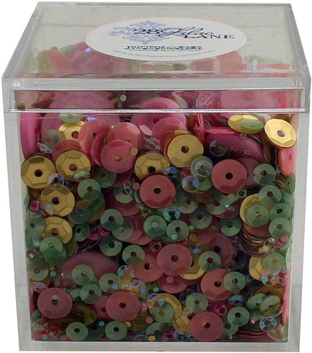 Buttons Galore Rose Garden Shaker Mix
