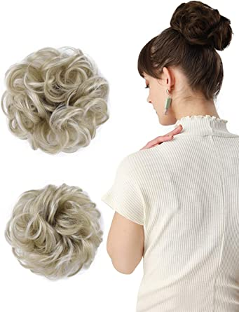 Hair Bun Extensions Curly Wavy Hair Pieces Messy Hair Scrunchies For NN