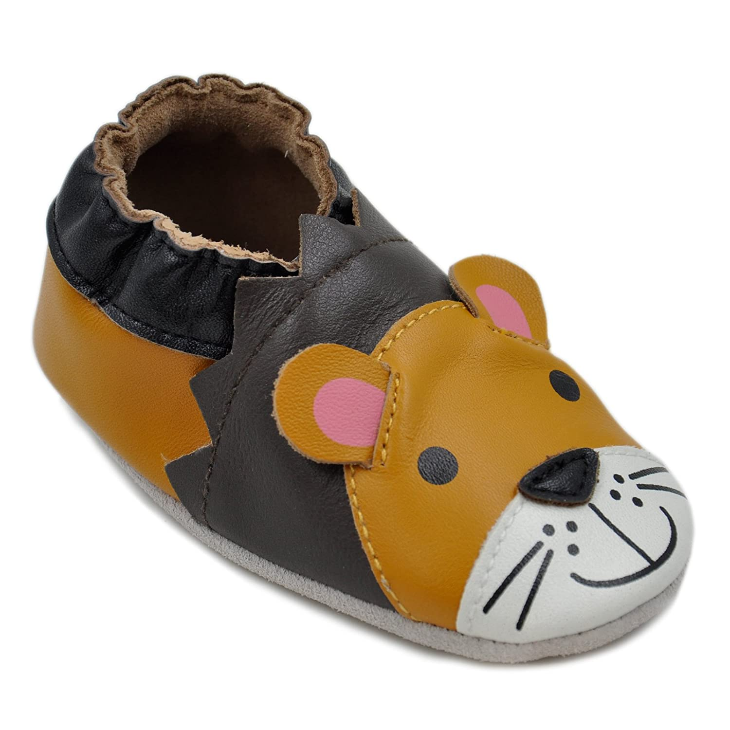 Kai Baby Boys Lambskin Leather Soft Sole Shoes Lion Kimi