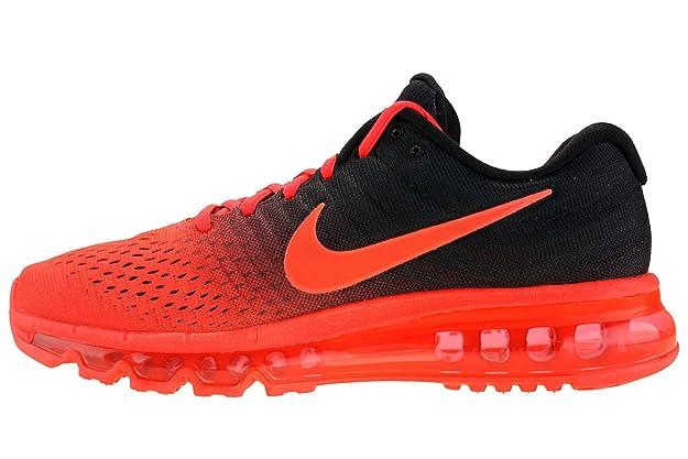 Running Nike Mens Air Max 2017 Running Shoes Bright Crimson