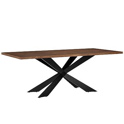 en.casa] Tavolo da pranzo per 6-8 sedie noce [200x100cm] legno ...