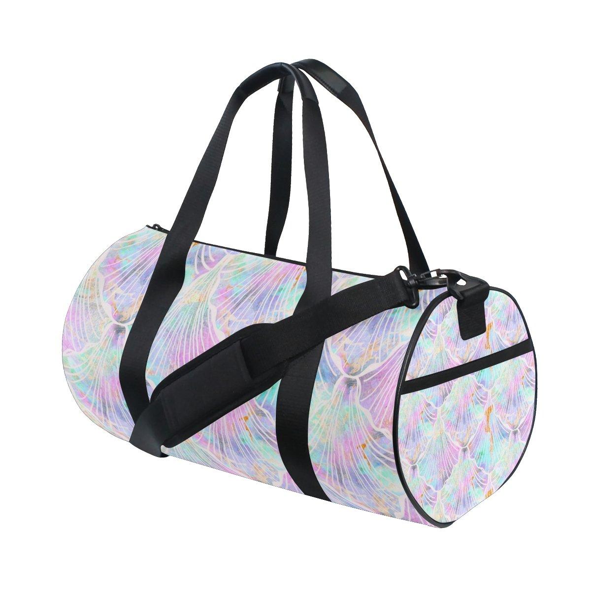 Unisex Pastel Mermaid Scales Gym Sport Team Issue Duffel Bag by Top Carpenter
