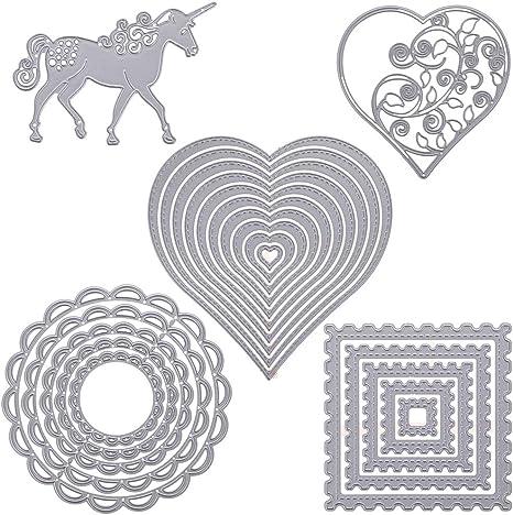 Mvchif Cutting Dies Metal Stencils Scrapbooking Tool DIY Craft Carbon Steel Embossing Template for Paper Card Making Rose Flower