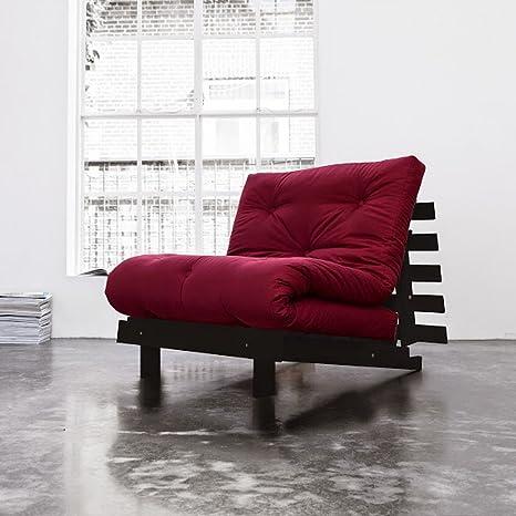 natural colchones Juego de rojos de algodón Futon colchón wengué farbene Marco de madera Estructura de