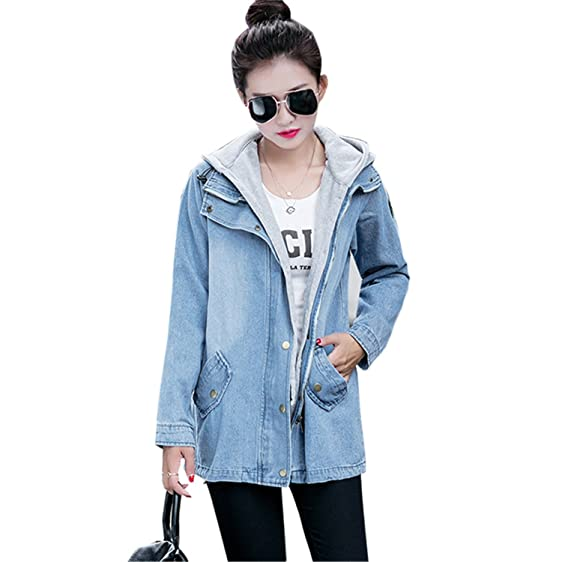 Ivan Johns Warm Plus size Female Cardigan Trench coat Two pieces Cowboy Tops Women Windbreaker casaco