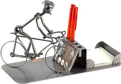 Steelman24 I Organizador De Sobremesa Bicicleta De Carreras I Made in Germany I Idea para Regalo I Figura de metalo