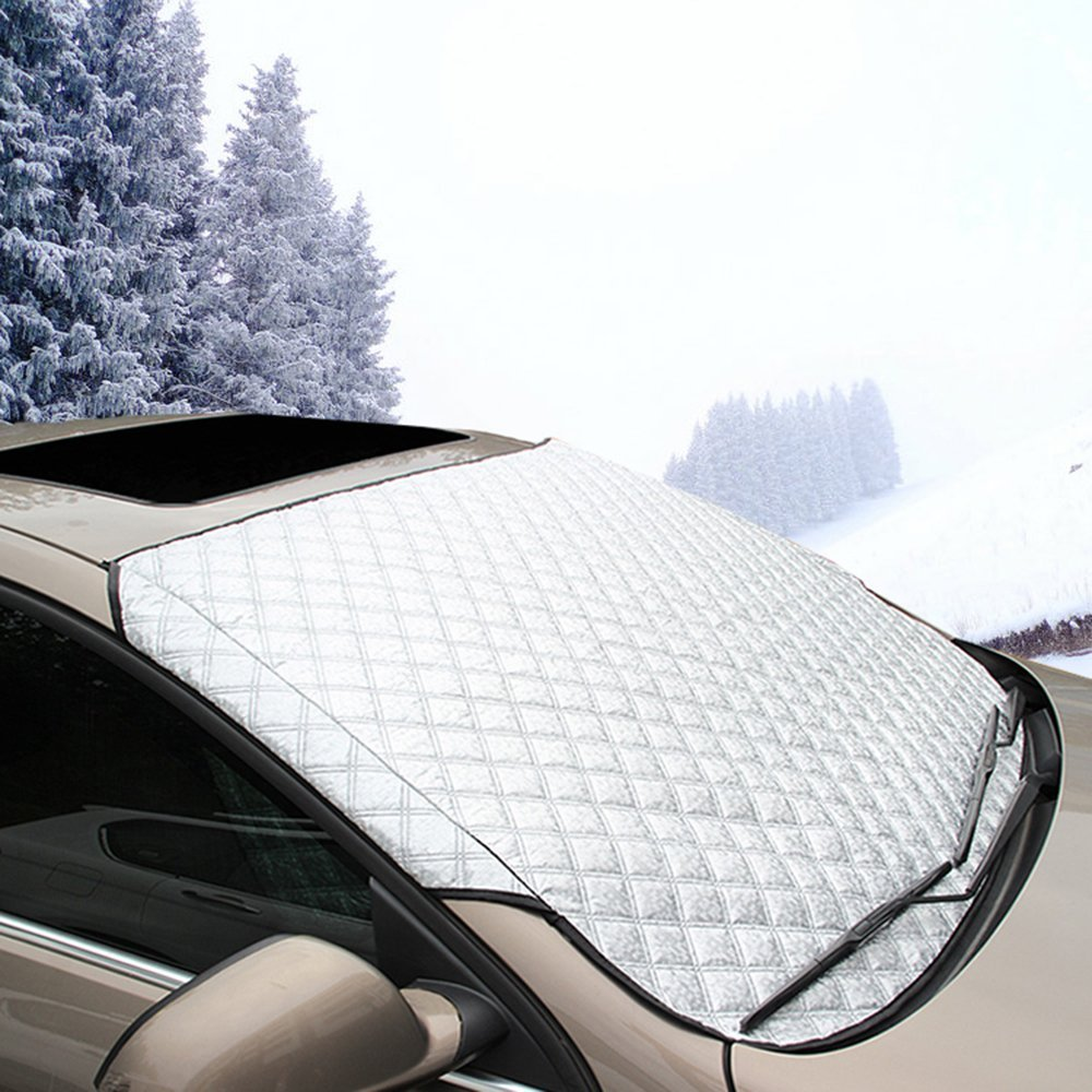 Car Windshield Snow Cover & Sun Shade Protector Cotton Thicker Snow Protection Cover TOPIND Windshield Cover Ice Snow Sun Frost Guard Wind Proof Car Cover Fits Most Car Shanxi Top Industries Co. Ltd.