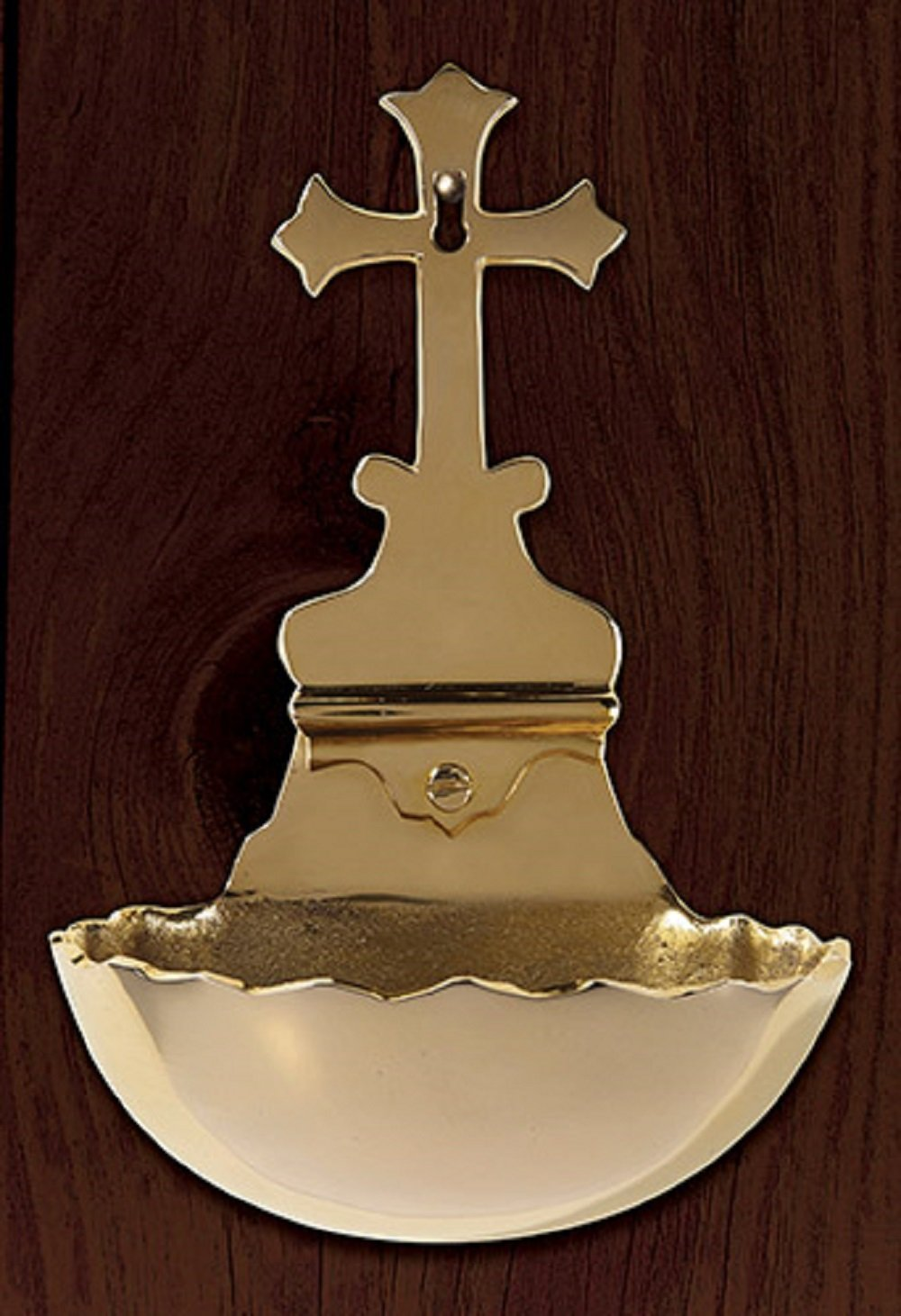 Holy Water Font w Cross, wall mount