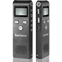 Gocheer 8GB Digital Voice Recorder Voice Activated Recorder with Playback -Recording Pen Upgraded Small Tape Recorder for Lectures, Meetings, Interviews, Mini Audio Recorder USB Charge, MP3