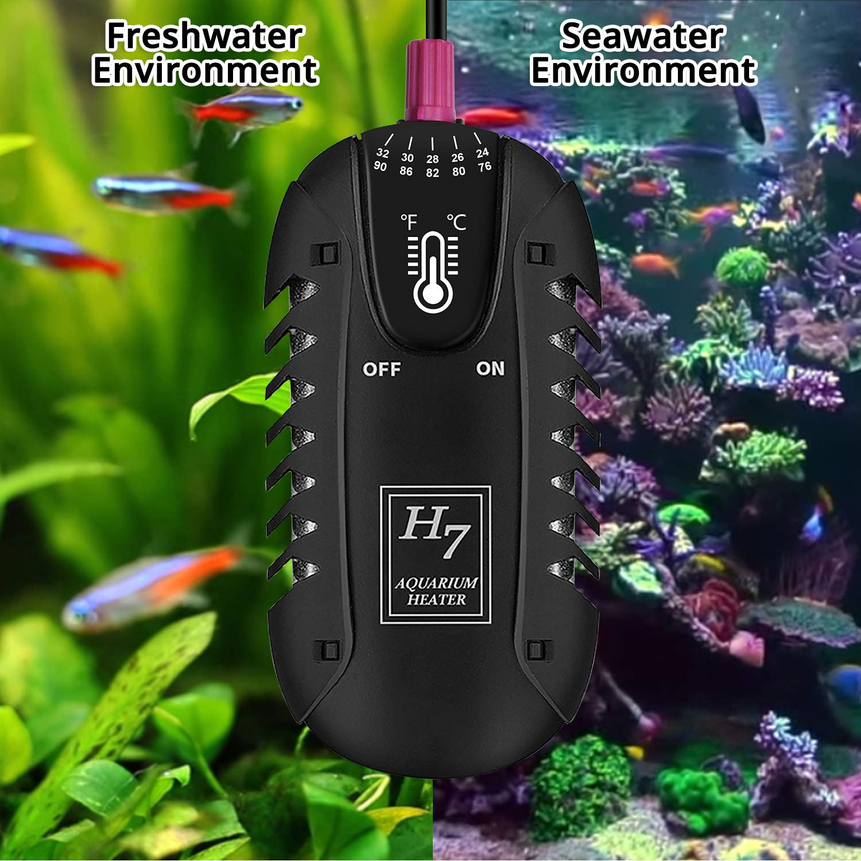 25-Watt NICREW Submersible Aquarium Heater Shatterproof Adjustable Betta Fish Tank /& Turtle Tank Heater