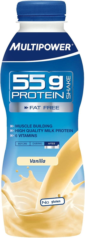 Multipower Protein 55G Drink Fresa Bebida Nutritiva - 12 Unidades