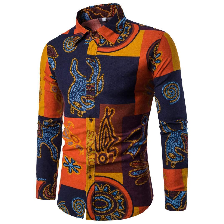 ... de Vestir Regular Fit Hombre Camisa de Manga Larga Casual Camisa Estampada Tops Formal Camiseta para Hombre Tops Blusa: Amazon.es: Ropa y accesorios