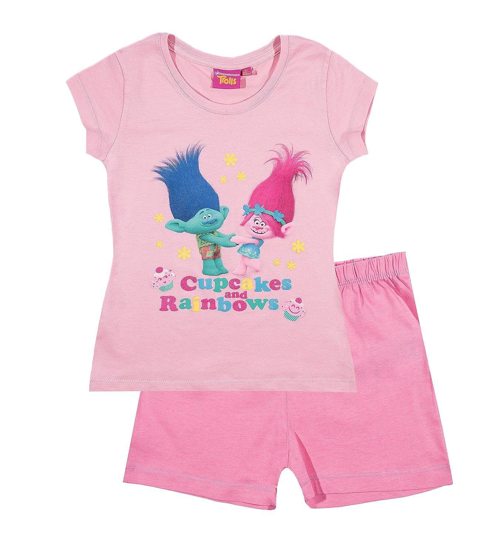 TROLLS Chicas Pijama Mangas Cortas - Fucsia: Amazon.es: Ropa y accesorios