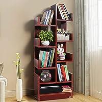 Kurtzy MDF Wood DIY Book Storage Display Rack, Matte Finish Brown (47 X 21 X 131 cm) , Set of 1