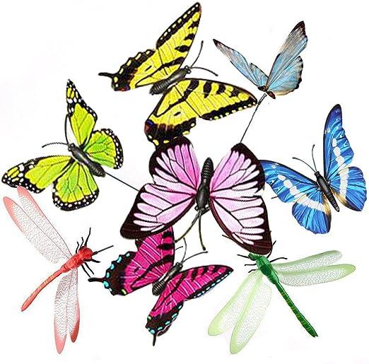 Lyauta LIPROFE - Estacas de Mariposa para Decoración de Jardín, Patio, Fiesta, Decoración de Mariposas, 25 Unidades para Jardín al Aire Libre: Amazon.es: Jardín