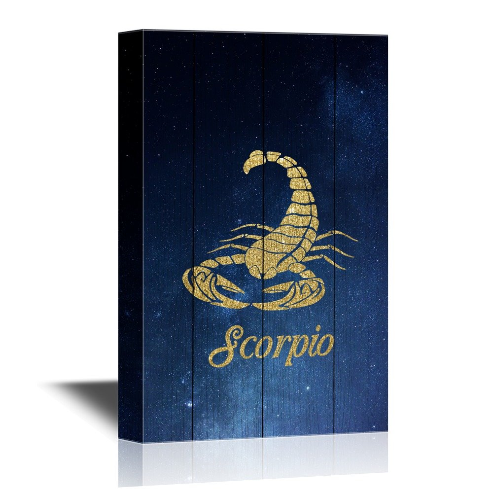 wall26 - Constellation Canvas Wall Art - Scorpio - Gallery Wrap Modern Home Decor   Ready to Hang - 16x24 inches