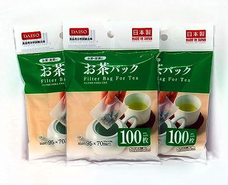 Amazon.com: Daiso - 3 x 100 bolsas de filtro desechables ...