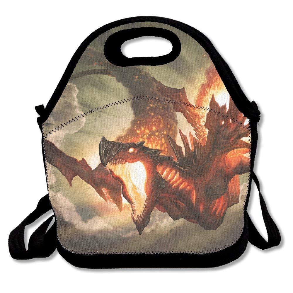 Cool Fire Dragon昼食バッグランチトートランチボックスハンドバッグfor Kids and大人   B07FGVT74Q