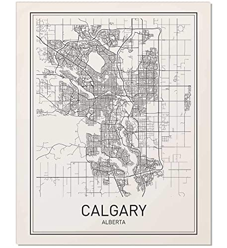 Calgary Poster Calgary Map Map Of Calgary City Map Posters