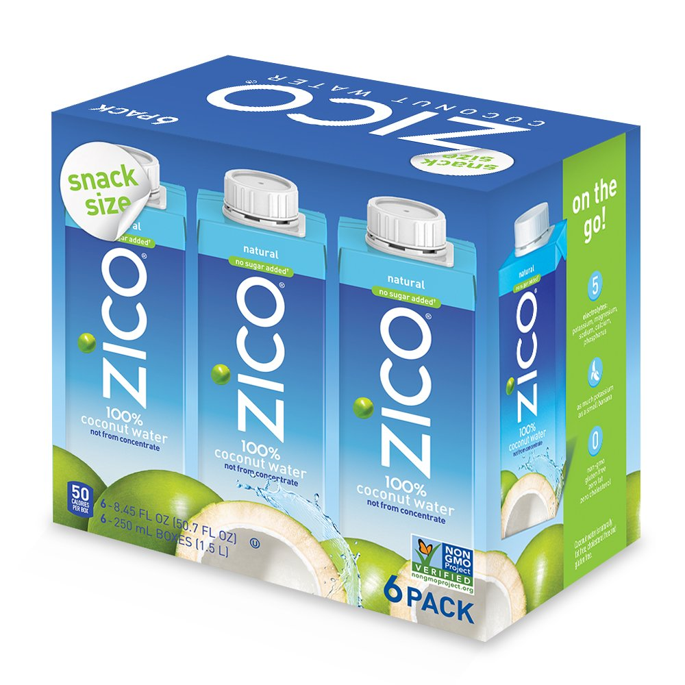 Zico Natural Coconut Water (Pack of 24), 8.45 Fl Oz