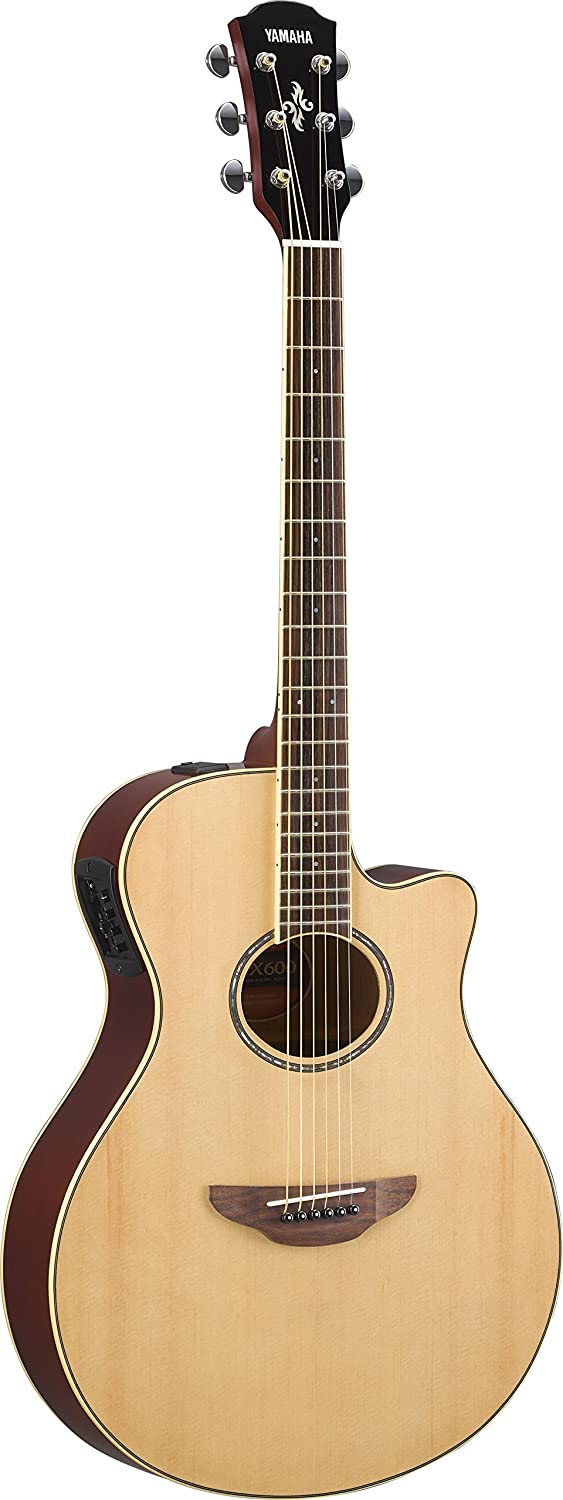 B078WYGGHS Yamaha APX600 NA Thin Body Acoustic-Electric Guitar, Natural 71UV0mFkEJL