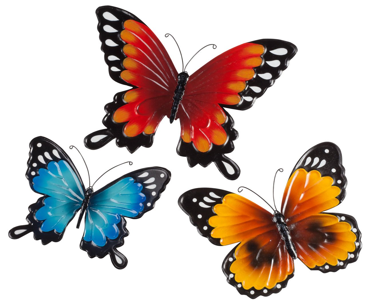 new metal wall decor butterfly sculpture 29x15 baby. Black Bedroom Furniture Sets. Home Design Ideas
