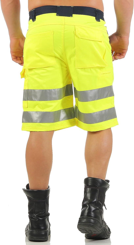 Mivaro Bermuda Uomo Shorts Alta visibilit/à con Bande Riflettenti