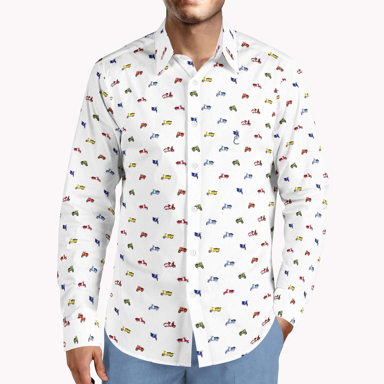 Camisa Manga Larga Estampada Vespas Talla M: Amazon.es: Ropa y accesorios